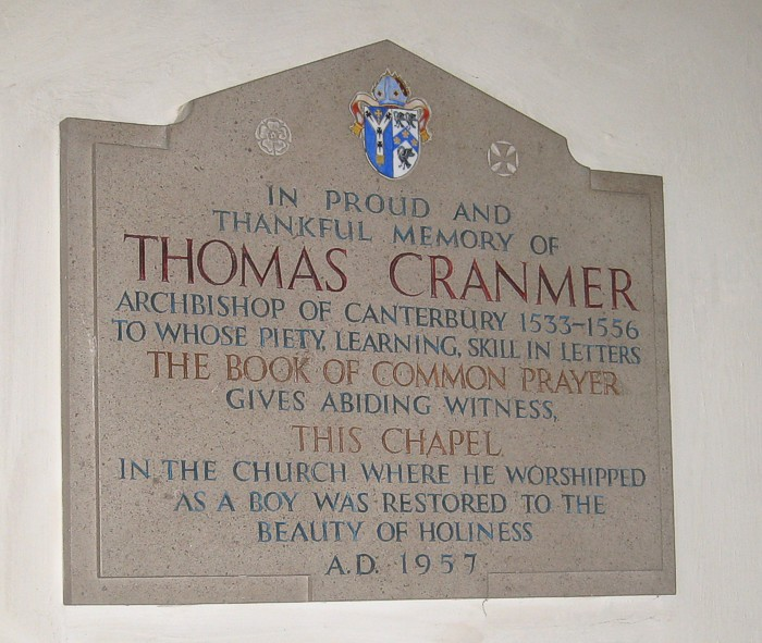 Thomas Cranmer coat of arms